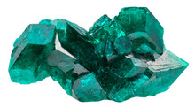 Druse Of Emerald-green Crystals Of Dioptase