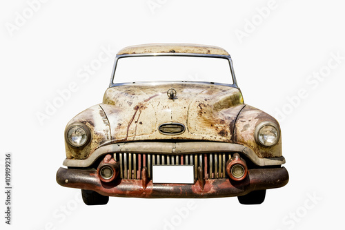 Old car isolate on a white background © thanamat