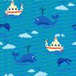 Seamless baby pattern – Sailor