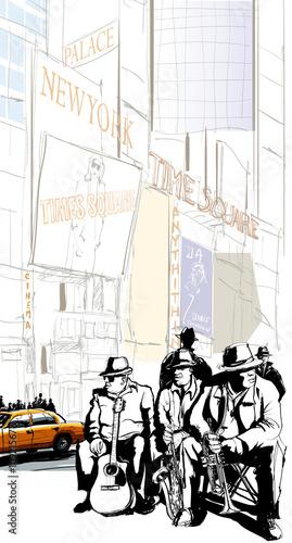 Canvas Prints Art Studio Jazz band in New-York
