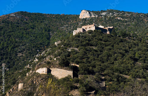 Papiers peints Fortification Fort Liberia. Pyrenees-Orientales. France