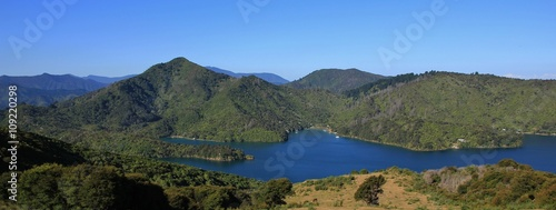 Spoed Foto op Canvas Eiland Onahau Bay, landscape in New Zealand