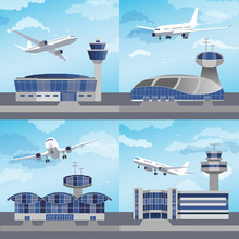 Airport Building With Control ...