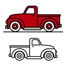 Two Vintage Pick-up Truck Outl...