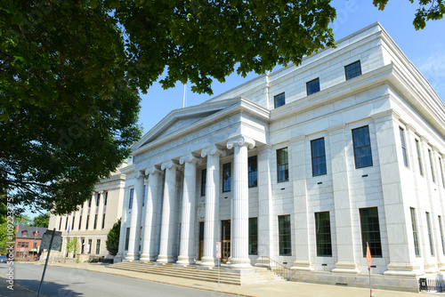 Fotografie, Tablou  New York Court of Appeals Building was built with Greek Revival style in 1842 in downtown Albany, New York State, USA