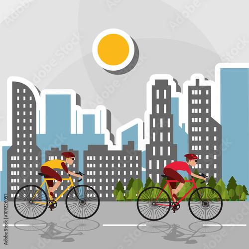 Flat illustration of bike lifesyle design, edita - 109226051