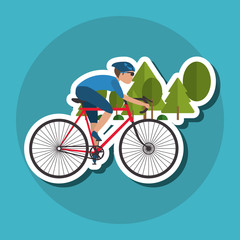 Fototapeta Flat illustration of bike lifesyle design, edita