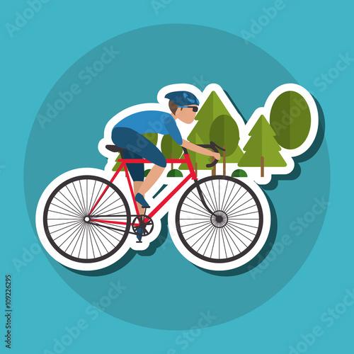 Flat illustration of bike lifesyle design, edita - 109226295
