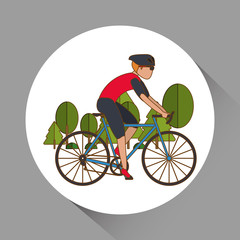 Panel Szklany Podświetlane Rower Flat illustration of bike lifesyle design, edita
