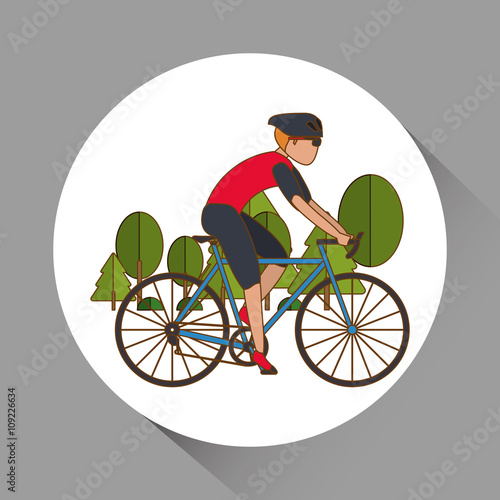 Flat illustration of bike lifesyle design, edita - 109226634