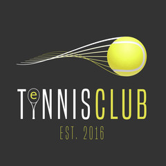 Panel Szklany Tenis Tennis club vector logo
