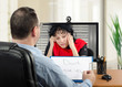 Telepsychiatry for depressed woman