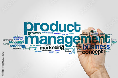 Fotografie, Obraz  Product management word cloud concept
