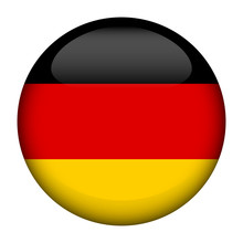 Round Glossy Button With Flag Of Germany