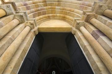 Fototapeta Romanesque portal