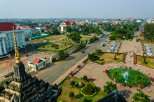 View From Patuxay Victory Gate...