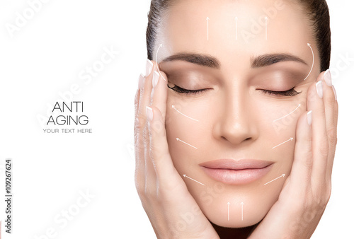 Fotografie, Obraz  Surgery and Anti Aging Concept. Beauty Face Spa Woman