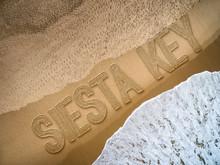 Siesta Key Written On The Beach