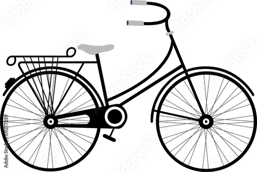 Vintage Retro Bicycle-Black/White - Buy this stock vector