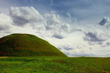 Panel Szklany Krakus Mound. Krakow.Poland.