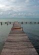 Abandoned dock in Cancun Mexico