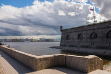 View Of The Naryshkin Bastion Of The Pier With The Commandant. Peter And Paul Fortress, St. Petersburg, Russia