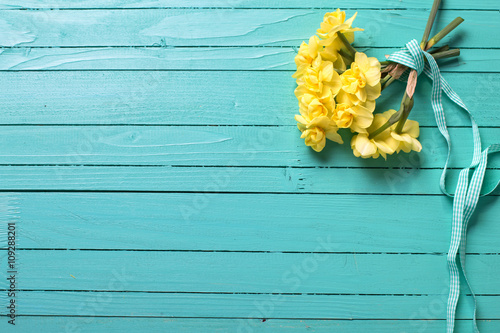 Background with narcissus flowers
