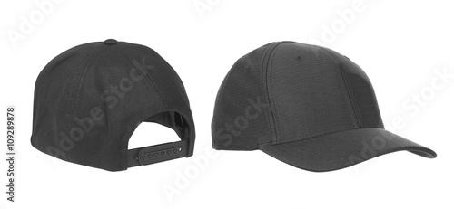Valokuva  blank hat in black isolated