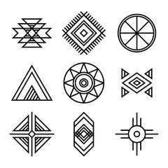 Native American Indians Tribal Symbols