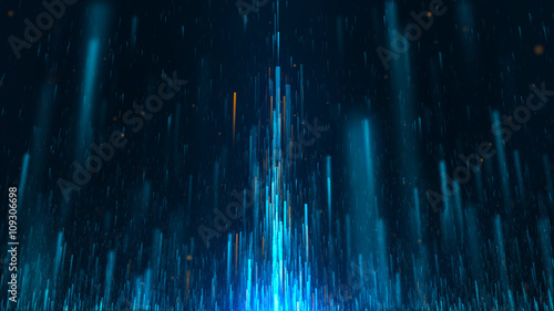 Photo  abstract background made of moving particles