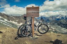 Moutainbike Am Pass