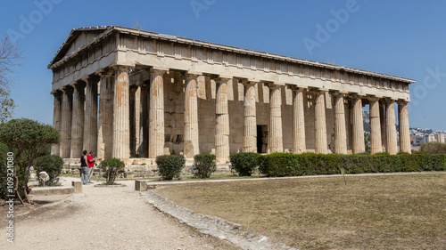 Temple of Hephaestus in Ancient Agora, Athens, Greece Wallpaper Mural