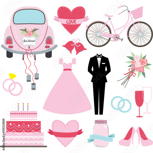 Poster Castle Wedding Doodles collections