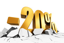 20 Percent Sale And Discount Advertisement Concept