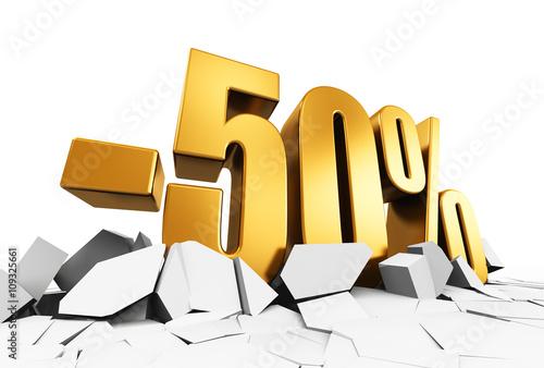 Papel de parede  50 percent sale and discount advertisement concept