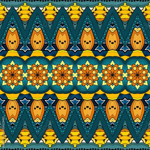 Foto op Plexiglas Retro Vector Seamless Ornate Pattern