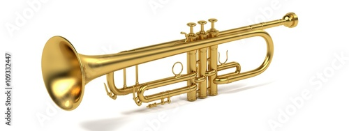 Photo 3d rendering of jazz trumpet