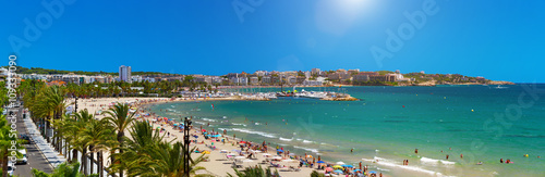 Poster Barcelona View of Platja Llarga beach in Salou Spain