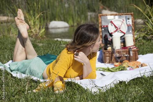 Fotografie, Obraz  picnic rilassante