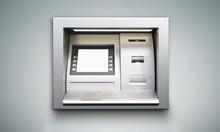ATM Machine Grey Background