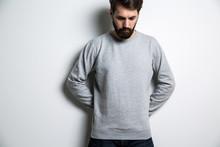 Bearded Man Looking Down