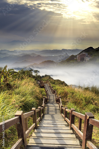 Fototapeta imaaging of beautiful landscape with nice nature color obraz