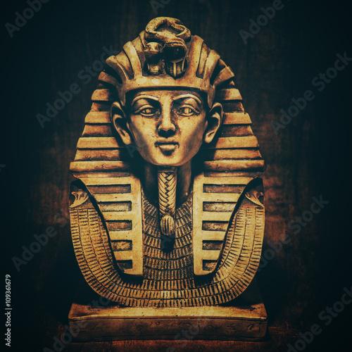 Stampa su Tela Stone pharaoh tutankhamen mask