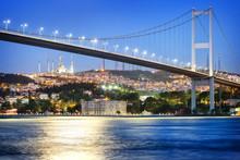 Bosphorus Bridge At Night With...