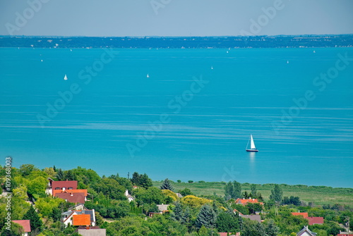 Photo  Lake Balaton at summer