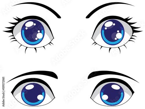 Cute Stylized Eyes - 109372861