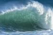 Wave crashing water