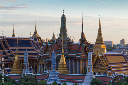 Photo Stands Bangkok Thailand Grand Palace, Thailand Landmark, The most tourist destination in Bangkok