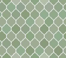 Seamless Pattern Green Tiles, Vector