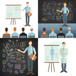 Business Conference and Presentation. Vector Illustration.